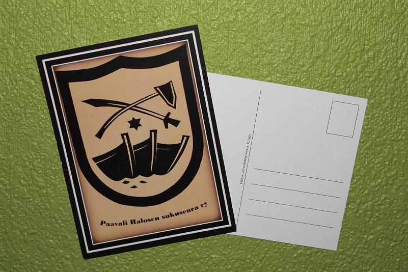 Paavali Halosen postikortti